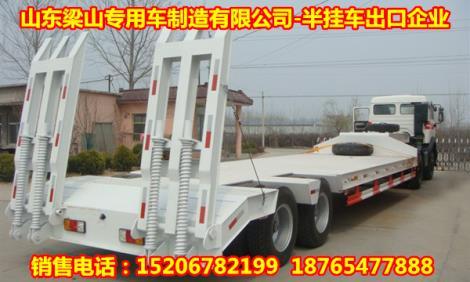 四川挂车厂销售13米平板式运输半挂车价格